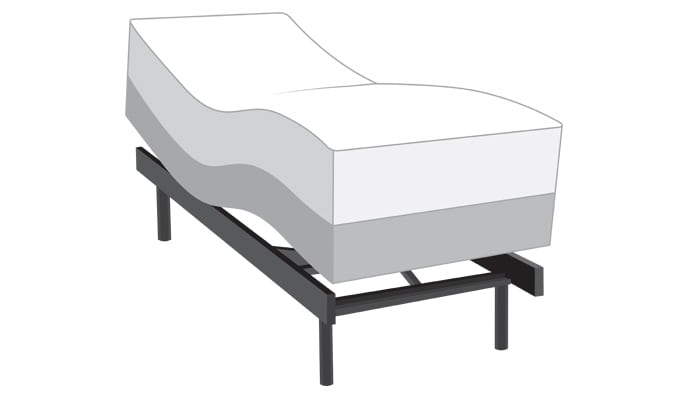 Power Bob Plus Adjustable Bed with Obsession