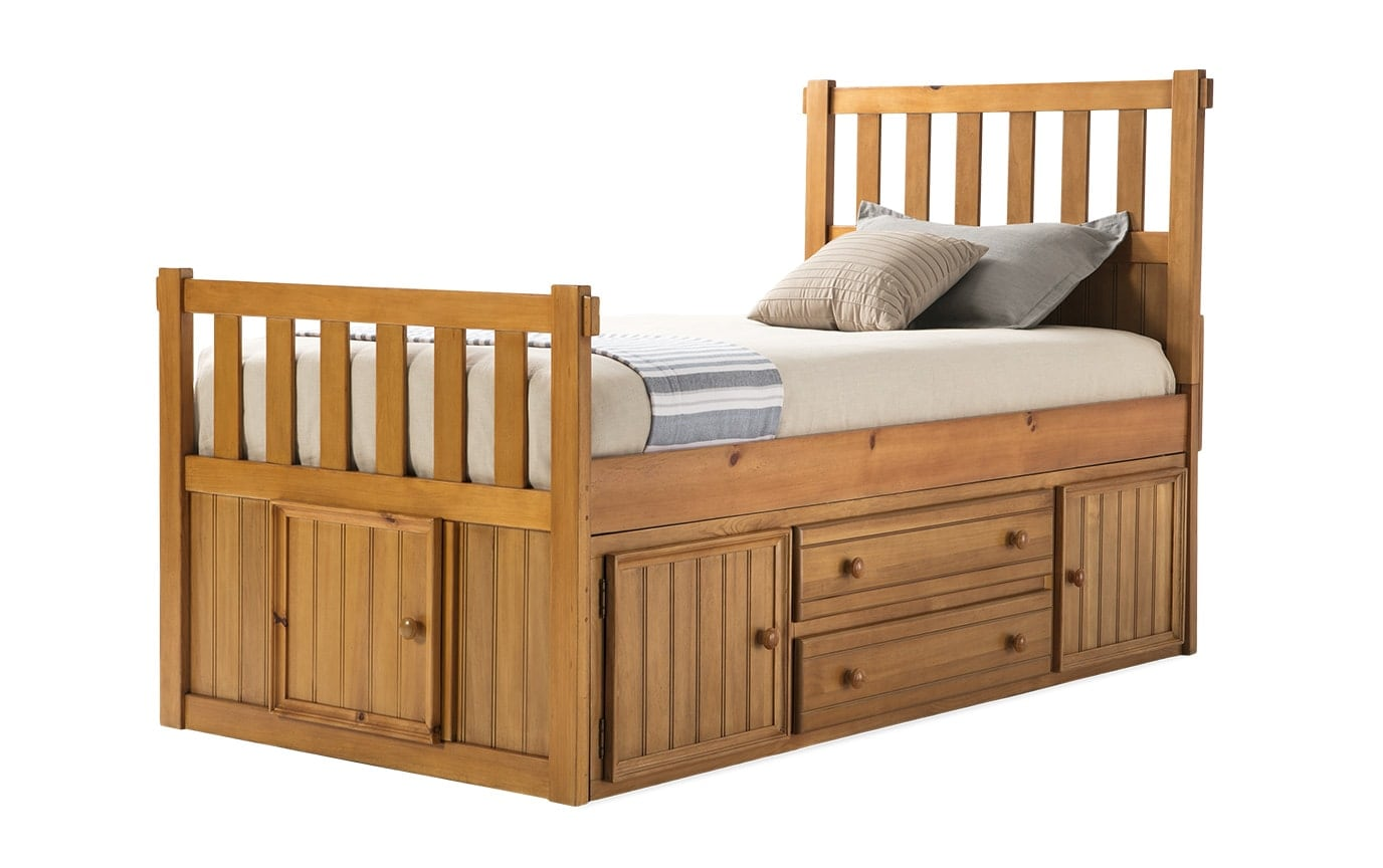 Denver Youth Twin Panel Bed With Door and Storage