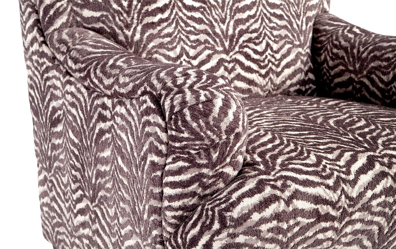 Cora Zebra Accent Chair
