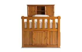 Denver Youth Twin Bookcase Bed With Door and Storage