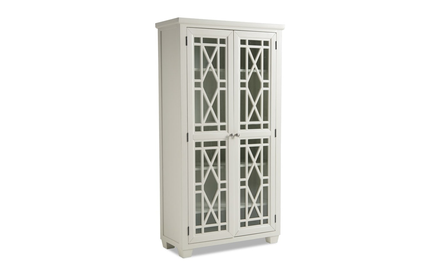 Lacy White Tall Cabinet