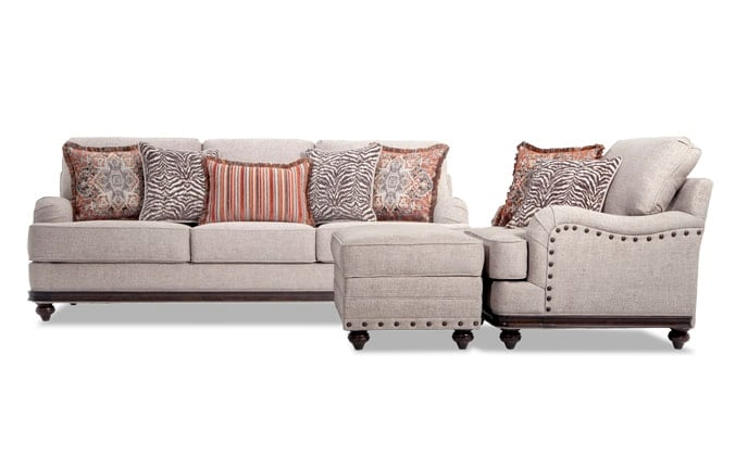 Cora Sofa, Chair & Storage Ottoman