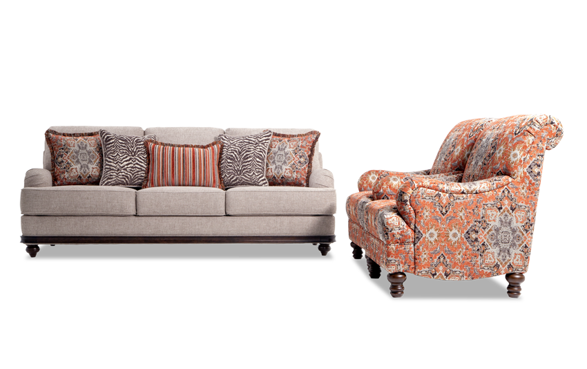 Cora Sofa & 2 Medallion Chairs
