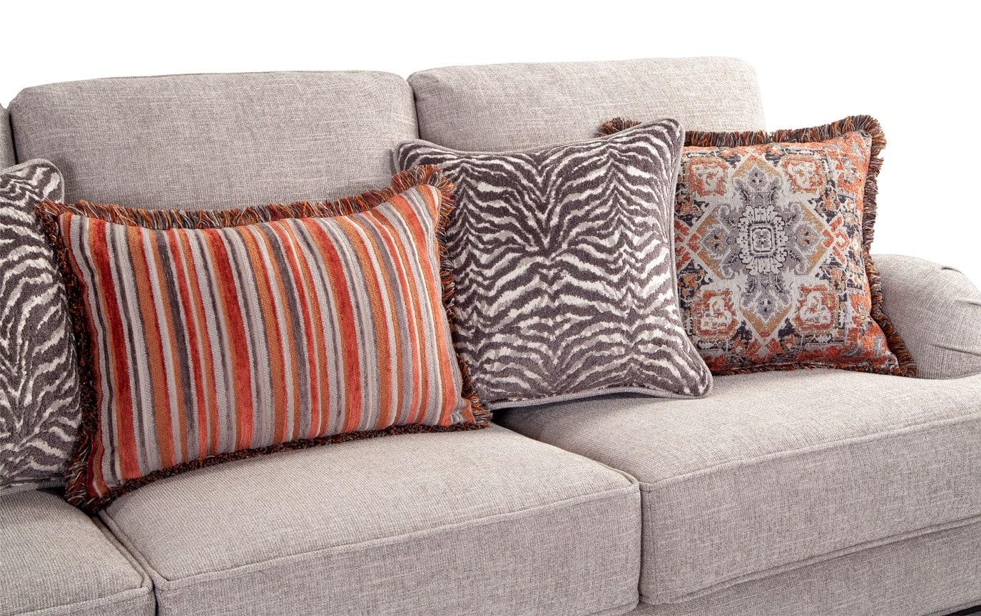 Cora Sofa & Zebra Accent Chair