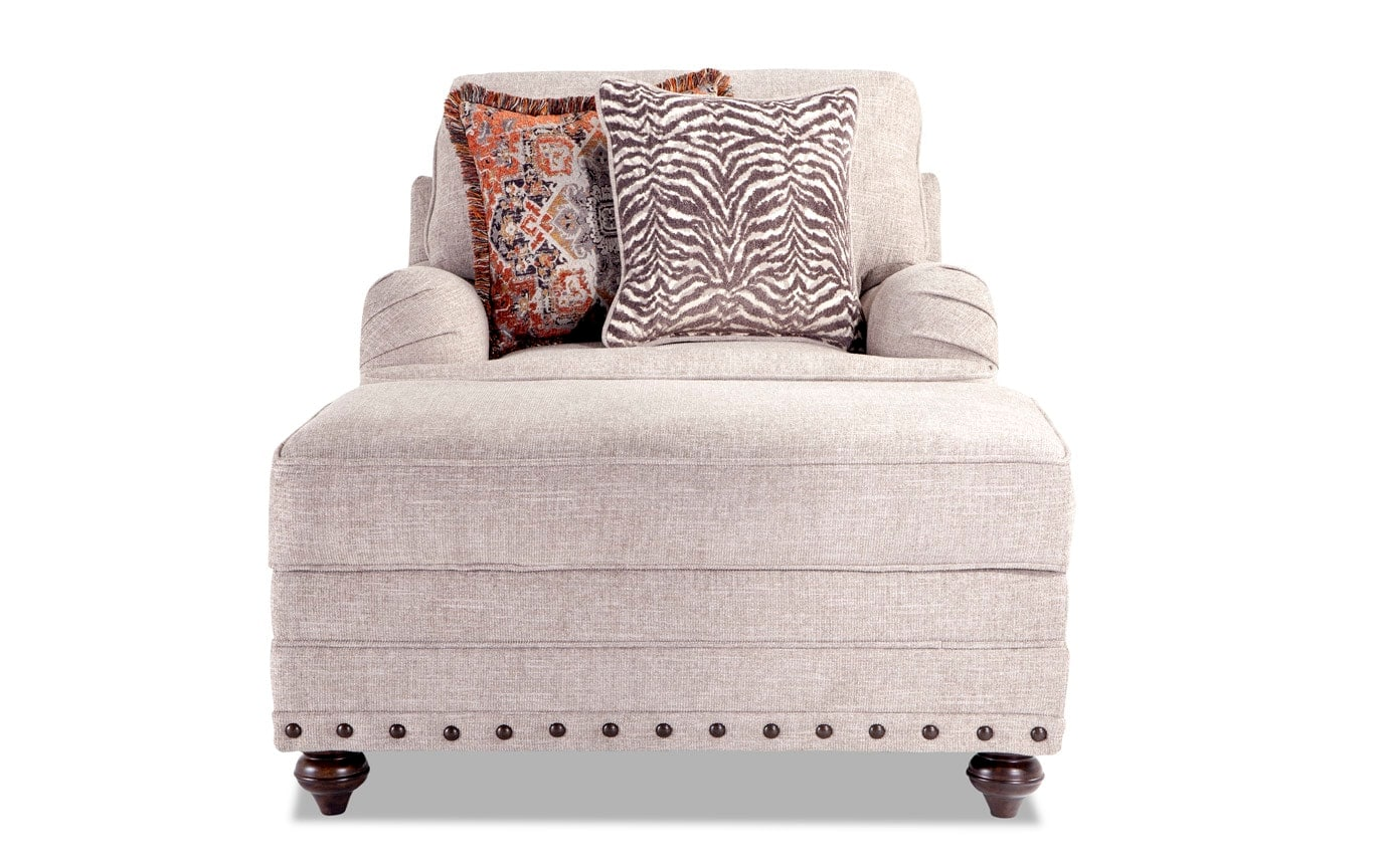 Cora Accent Chair & Storage Ottoman