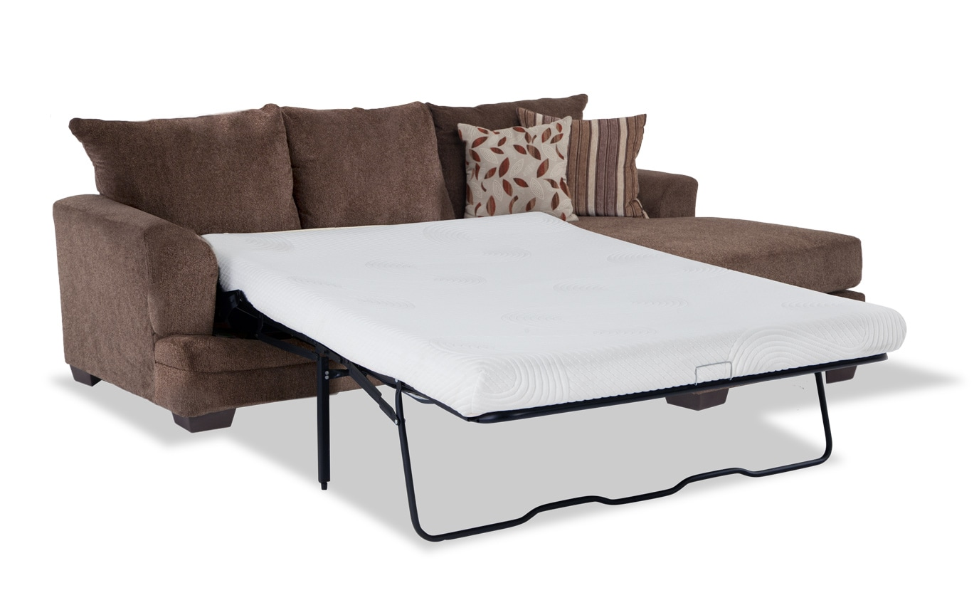 Miranda Bob O Pedic Gel Queen Sleeper Chaise Sofa Bobs Com