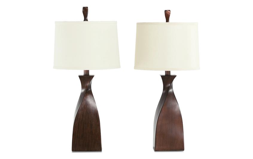 Set of 2 Atlanta Twist Lamps