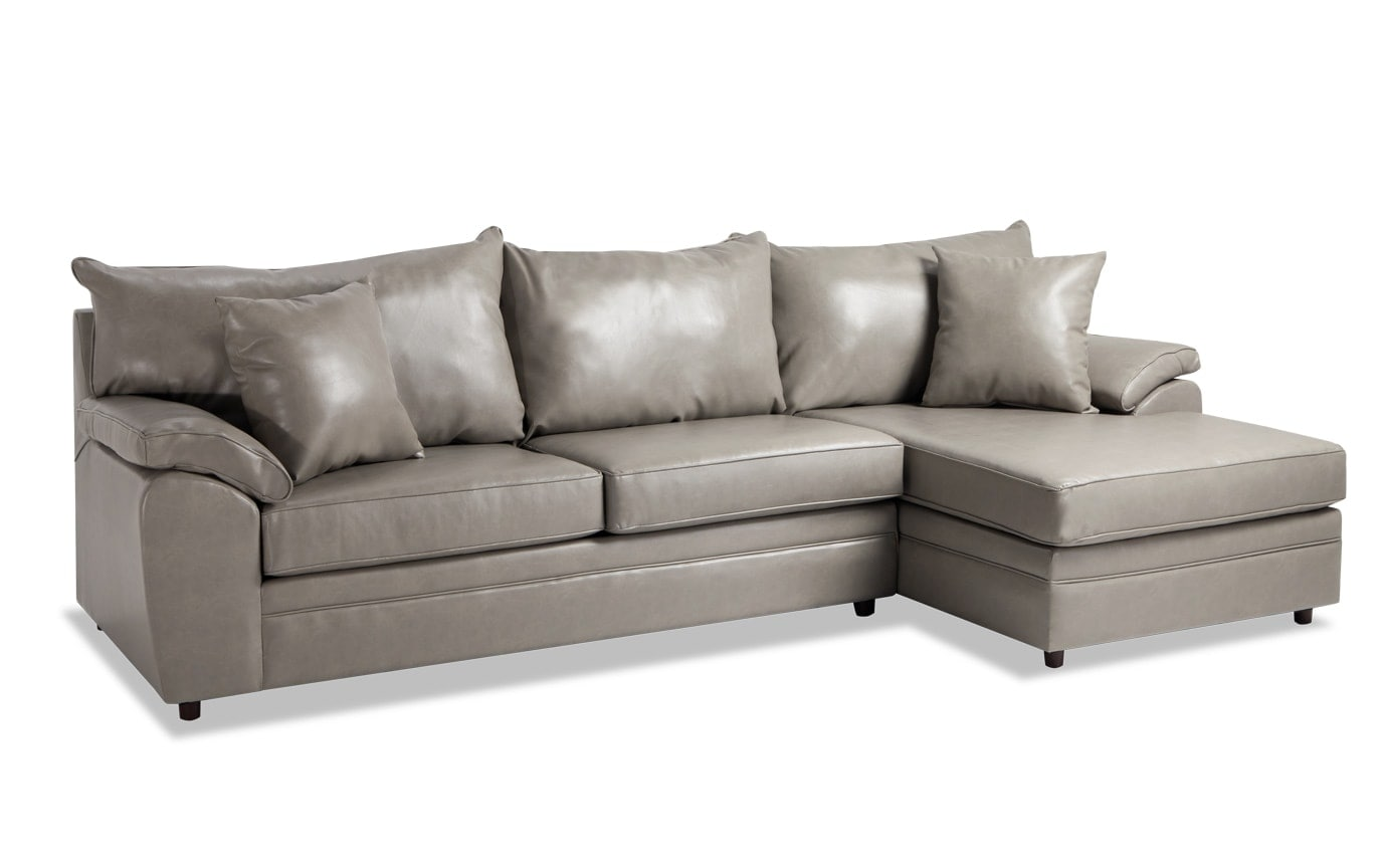 Odin Double Flint Left Arm Facing Sectional