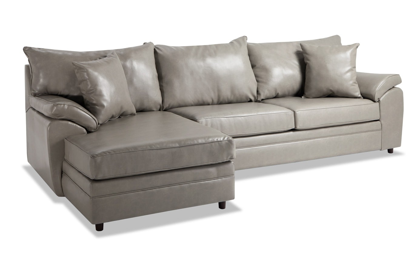 Odin Double Flint Right Arm Facing Sectional