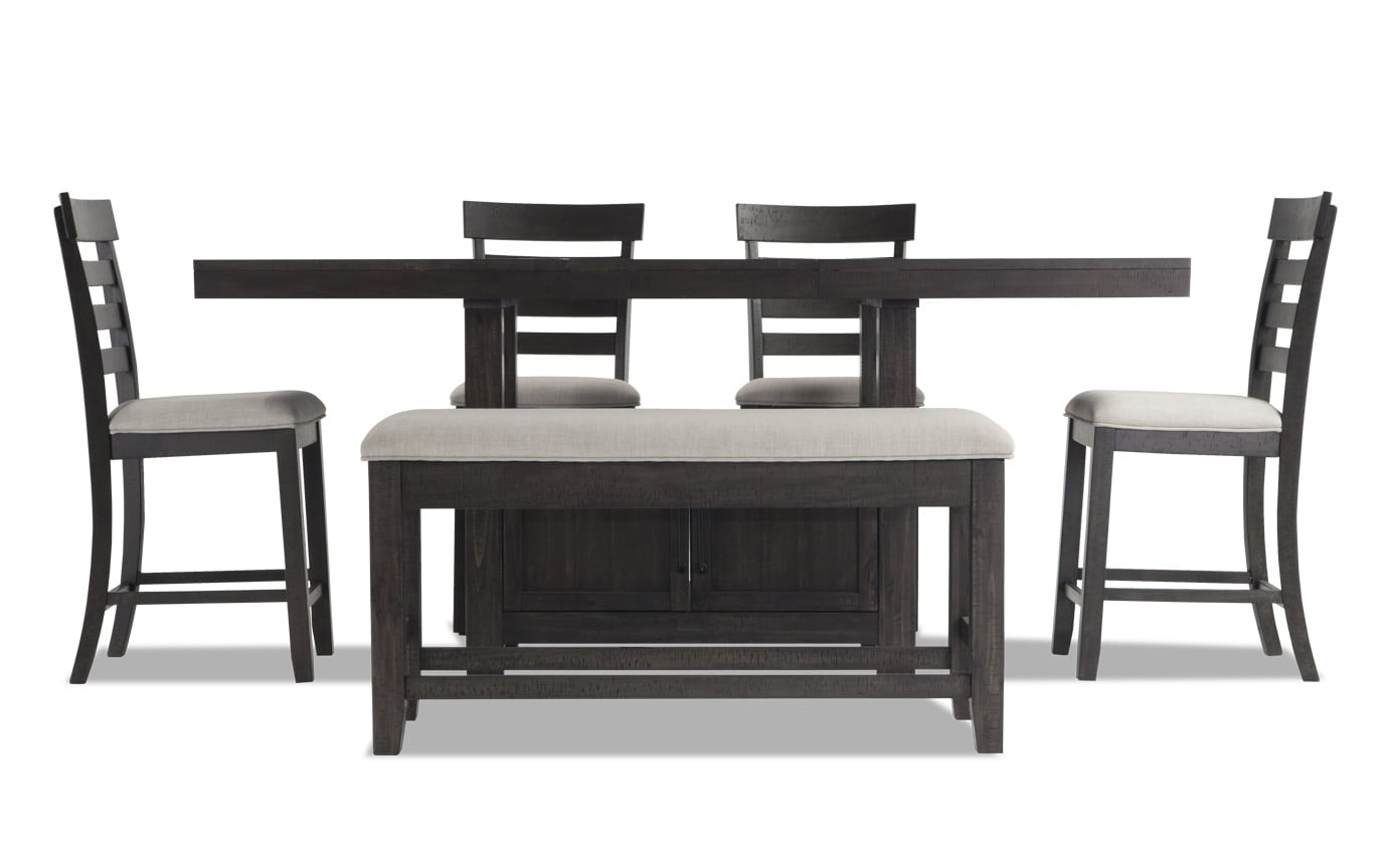 Sonoma 6 Piece Counter Set with Storage Bench