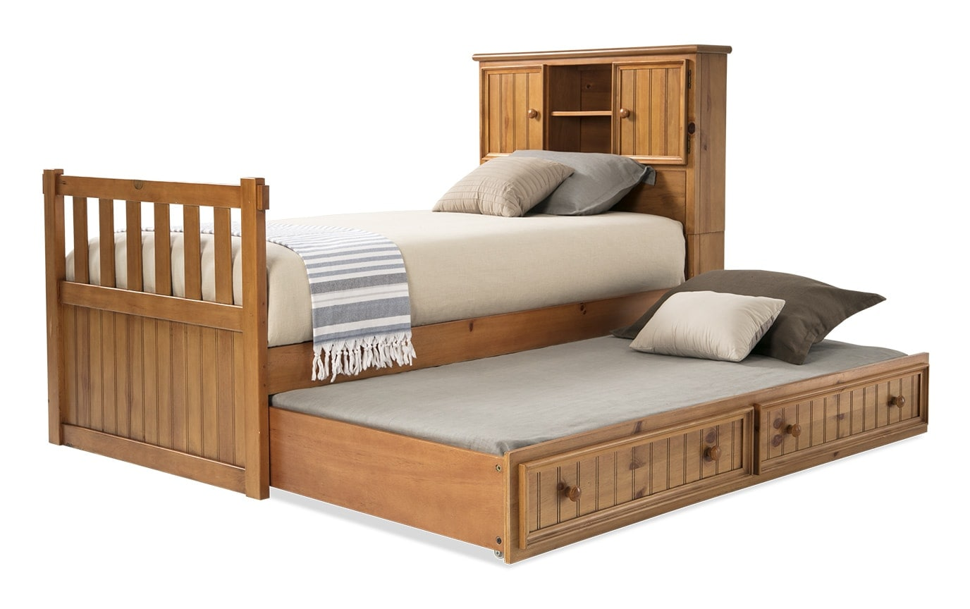 Denver Youth Full Bookcase Bed With Trundle