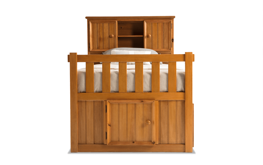 Denver Youth Full Bookcase Bed With Door and Storage