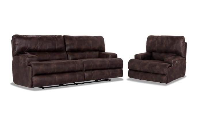 Gibson Power Reclining Sofa & Recliner