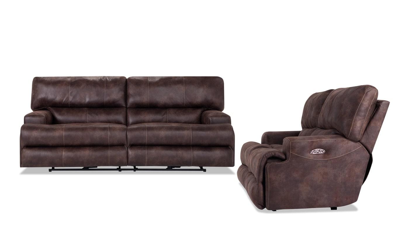 Gibson Power Reclining Sofa Loveseat Bobs Com