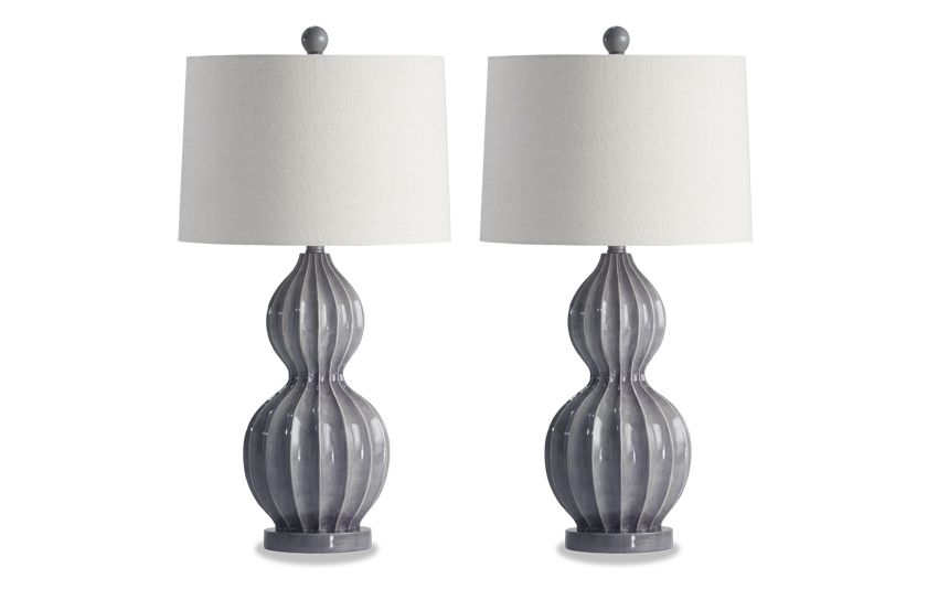 Set of 2 Heather Lamps