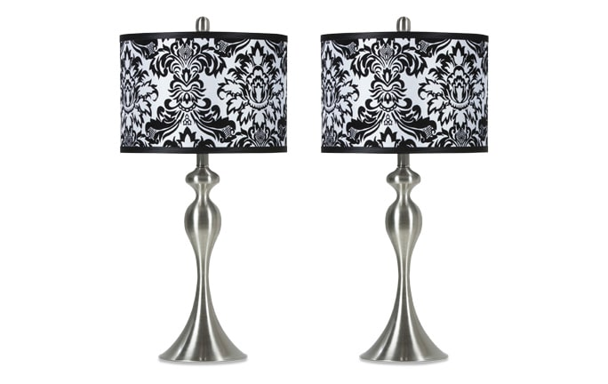 Set of 2 Damask Lamps