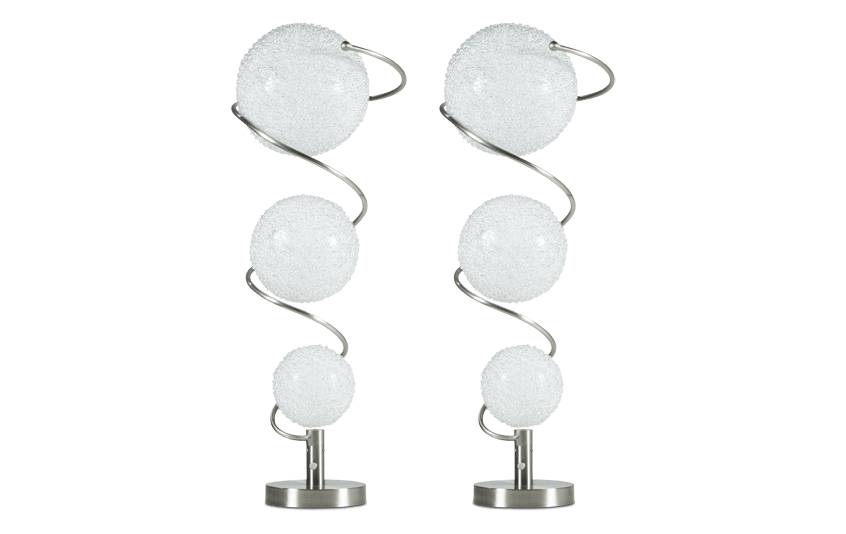 Set of 2 Triple Orb Lamps