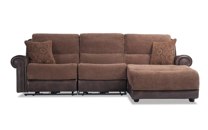 Dallas 3 Piece Power Reclining Left Arm Facing Sectional