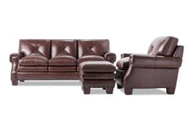 Kennedy Leather Sofa, Chair & Ottoman