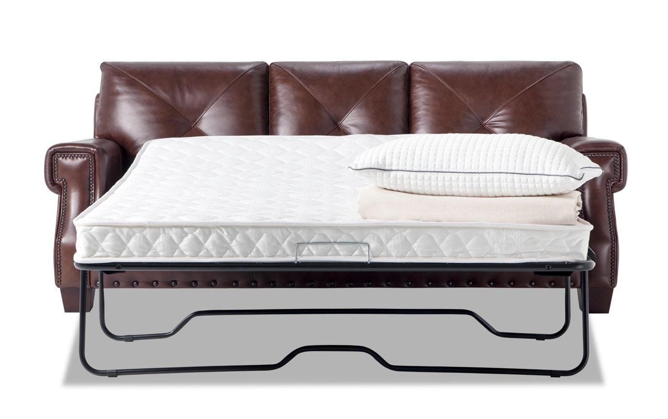Kennedy Leather Innerspring Queen Sleeper