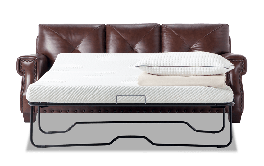 Kennedy Leather Bob O Pedic Gel Queen Sleeper Sofa Bobs Com