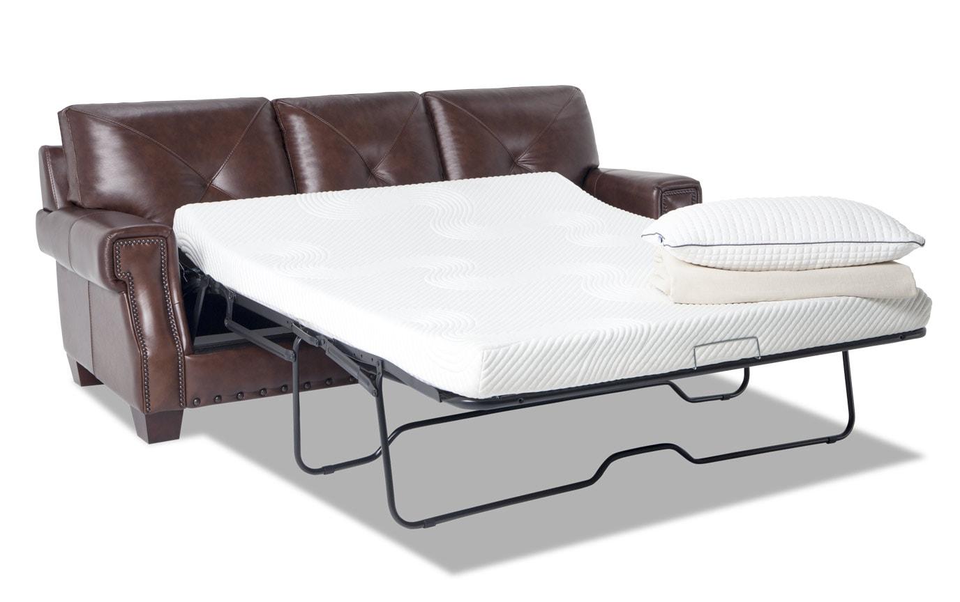 Kennedy Leather Bob-O-Pedic Gel Queen Sleeper Sofa & Loveseat