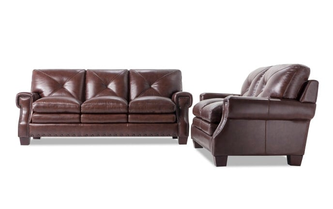 Kennedy Leather Bob-O-Pedic Gel Queen Sleeper & Loveseat