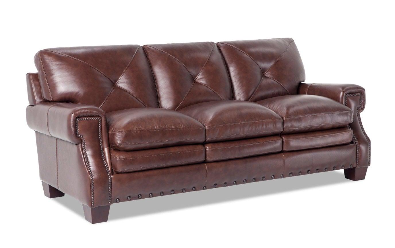Kennedy Leather Bob-O-Pedic Gel Queen Sleeper Sofa, Chair & Ottoman