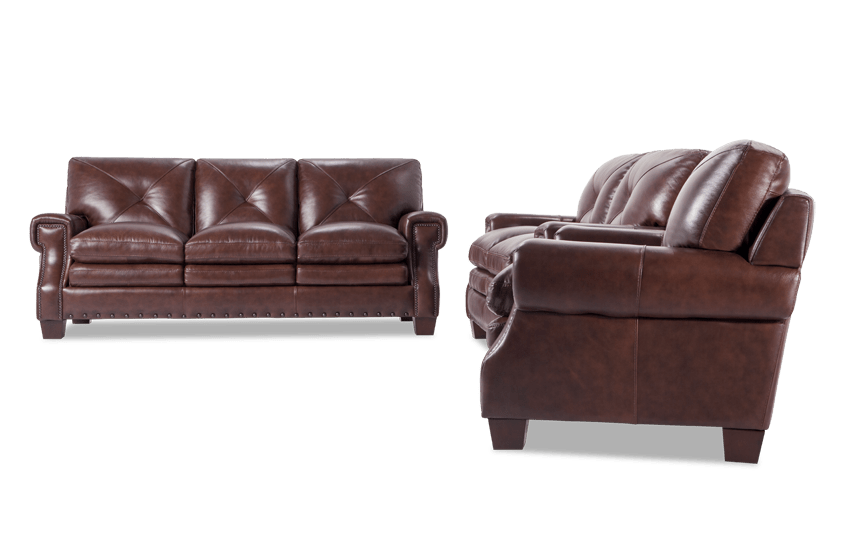 Kennedy Leather Bob-O-Pedic Gel Queen Sleeper, Loveseat & Chair
