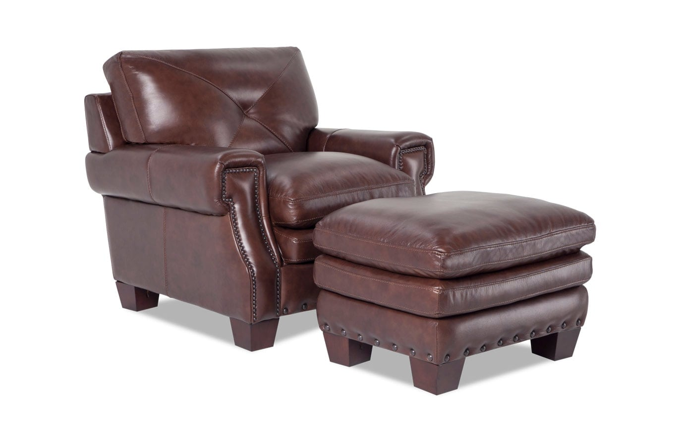 Kennedy Leather Chair & Ottoman