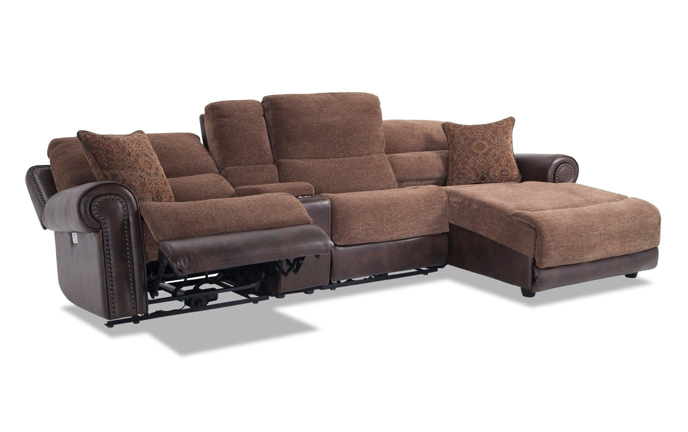 Dallas 4 Piece Power Reclining Left Arm Facing Sectional
