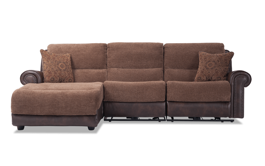 Dallas 3 Piece Power Reclining Right Arm Facing Sectional