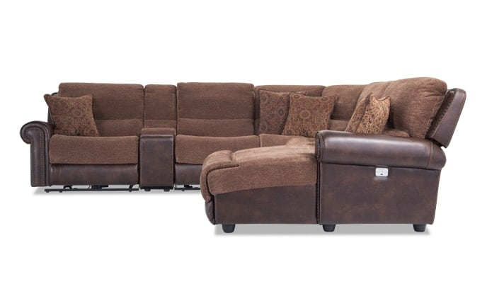 Dallas 6 Piece Power Reclining Left Arm Facing Sectional