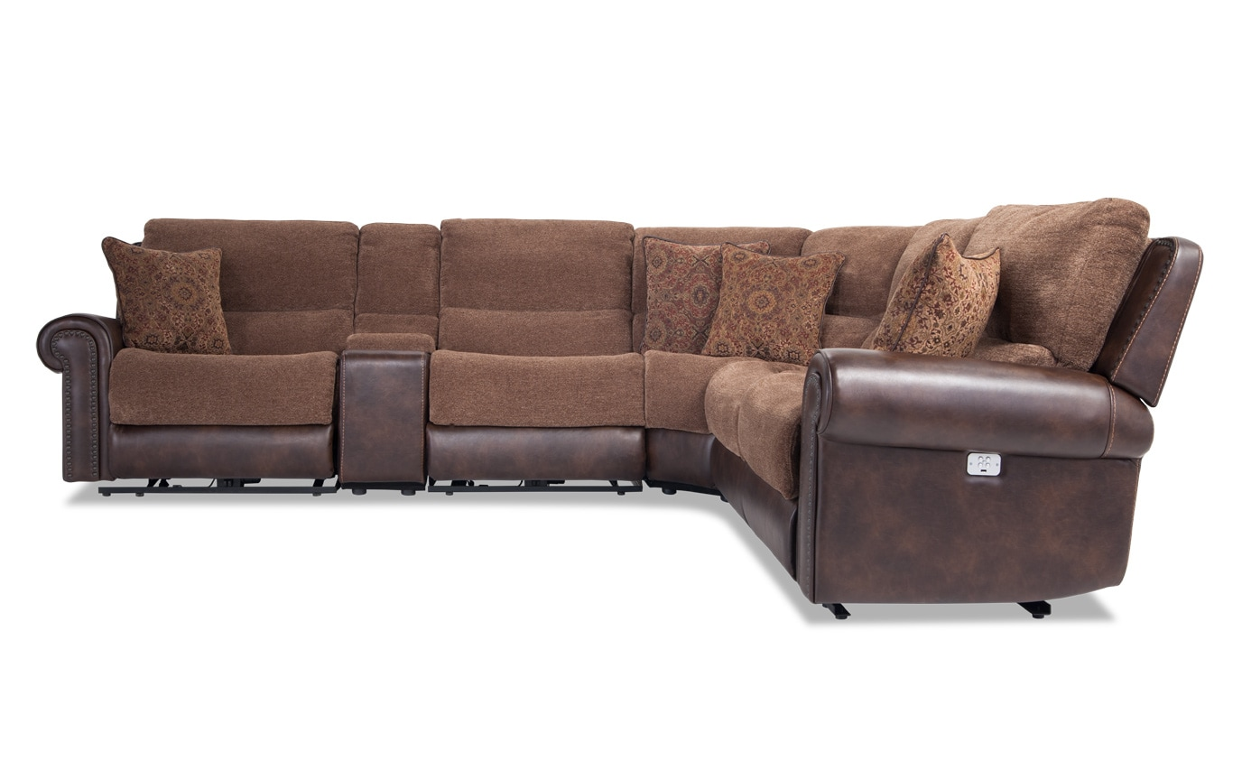 Dallas 6 Piece Power Reclining Sectional