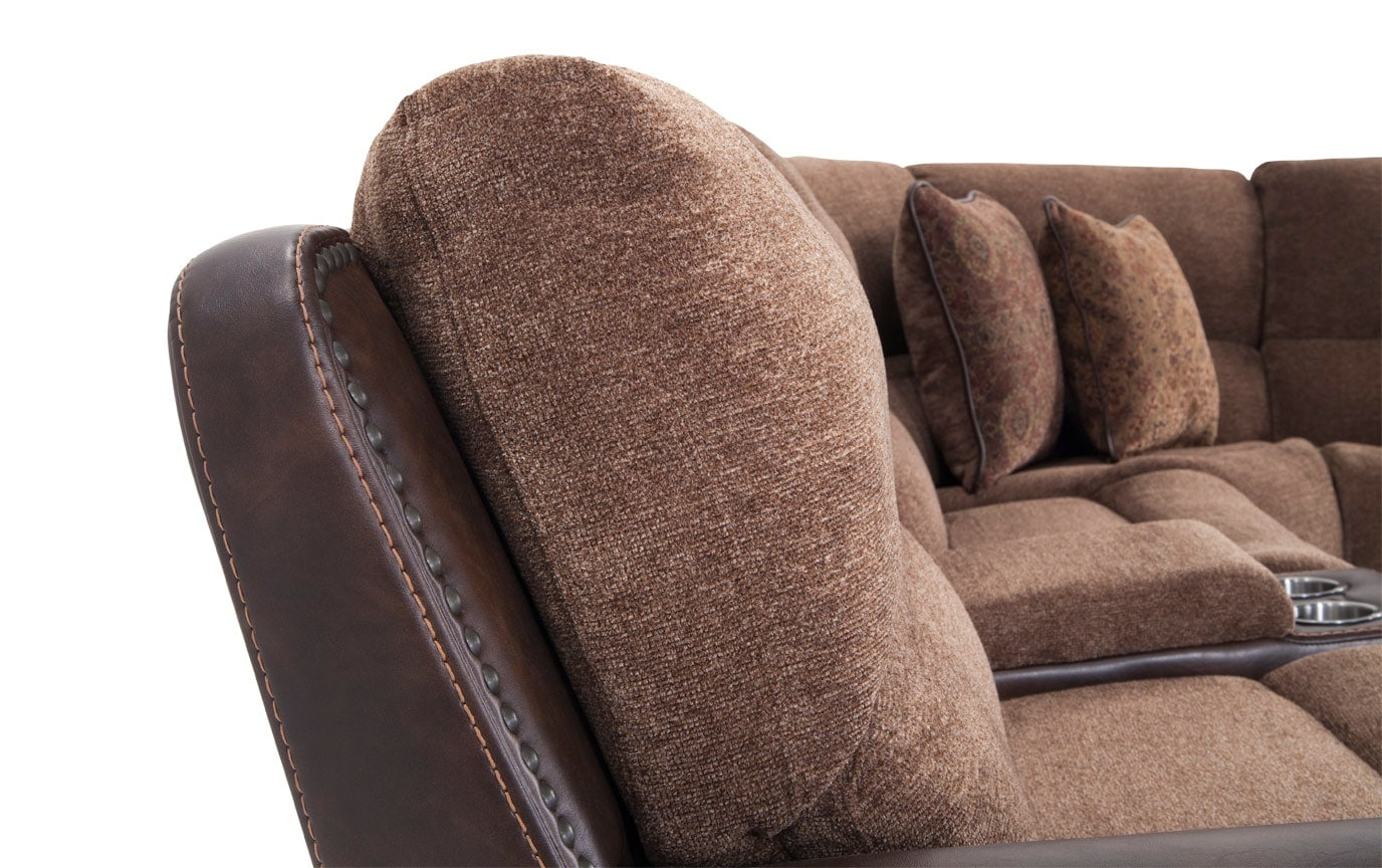 Dallas 6 Piece Power Reclining Right Arm Facing Sectional