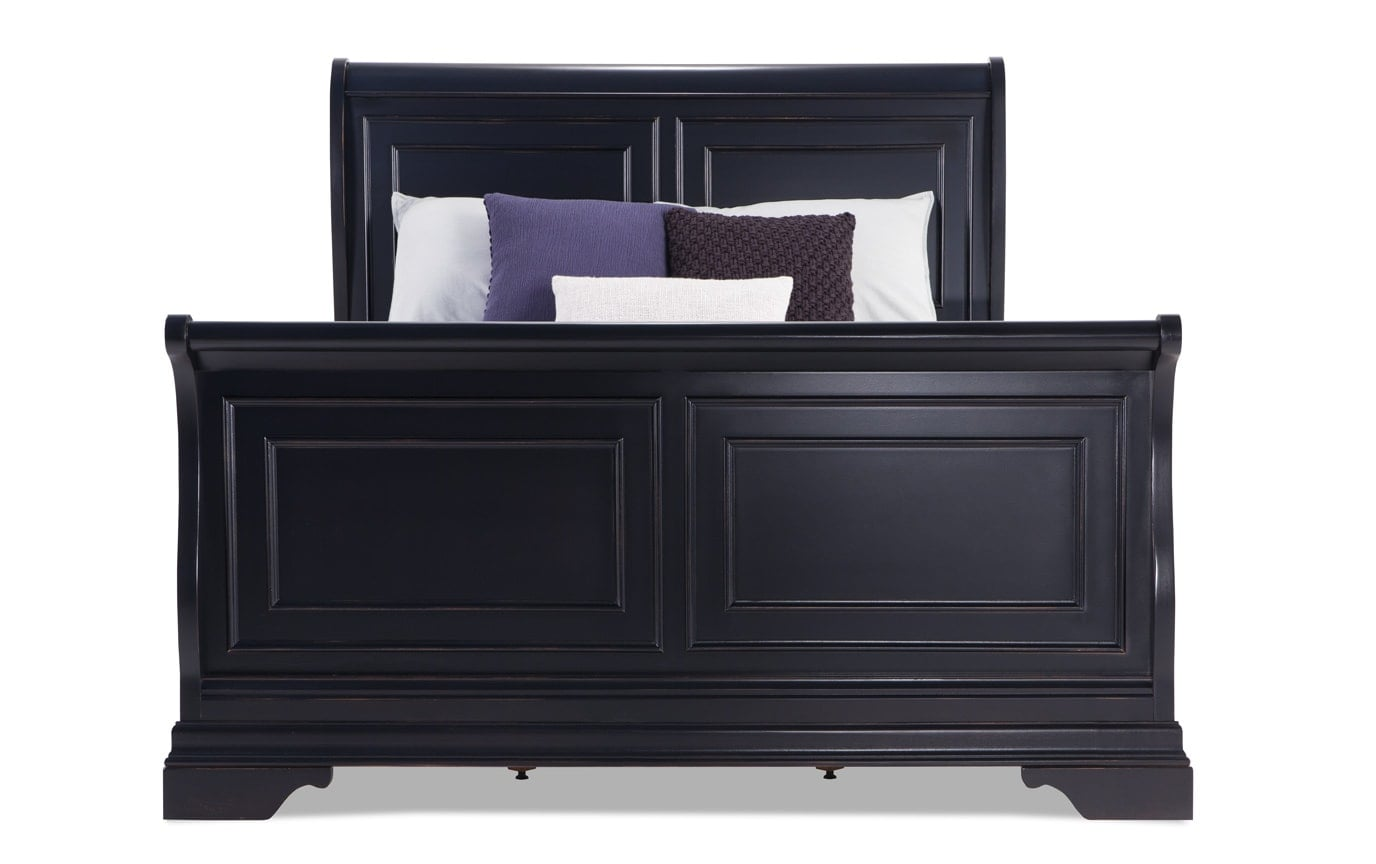 Louie Louie California King Black 7 Piece Bedroom Set