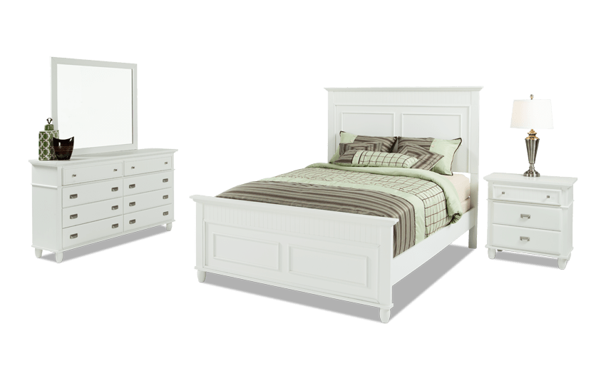 Spencer California King White Bedroom Set