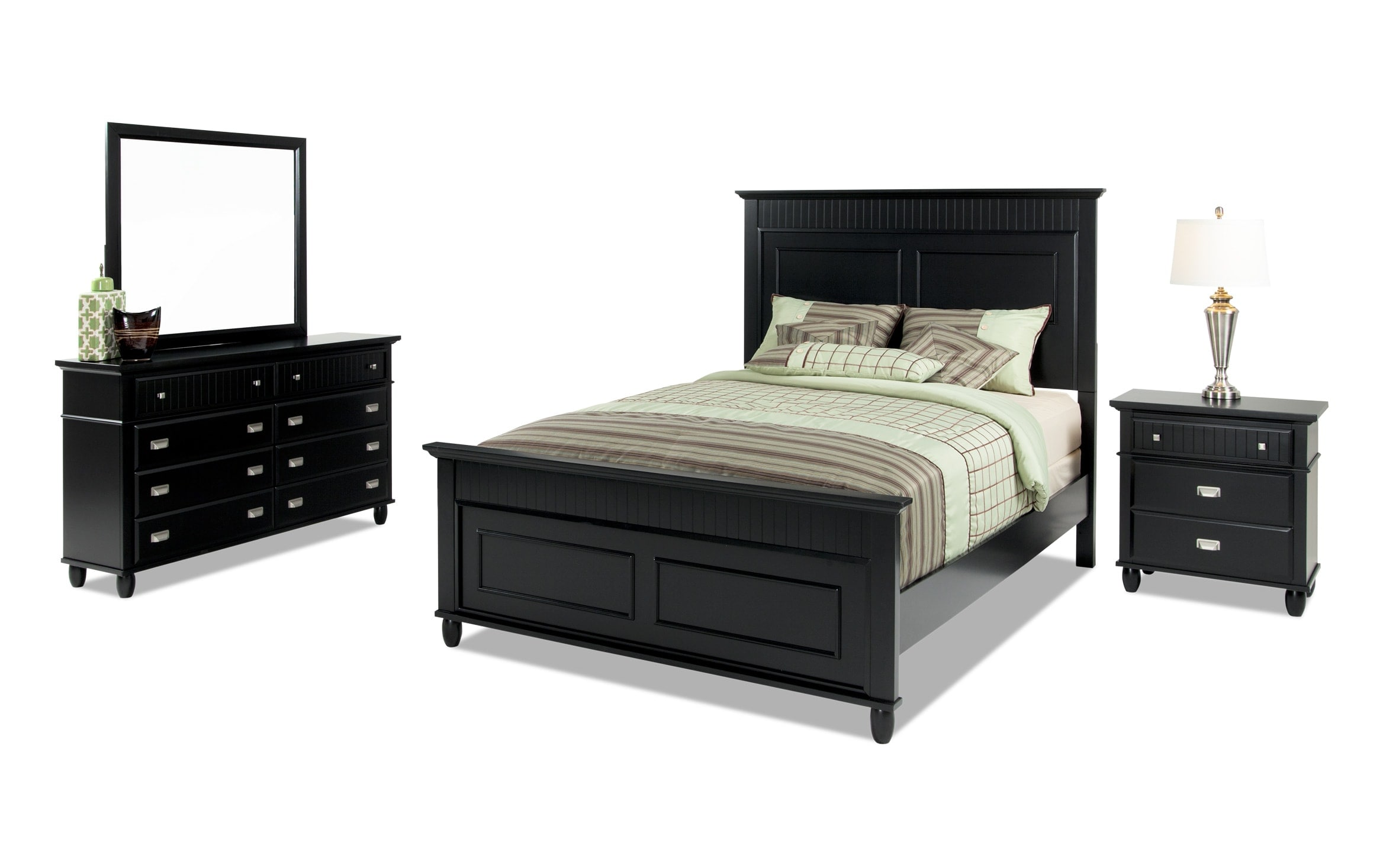 Spencer Full Black Bedroom Set Bobs Com