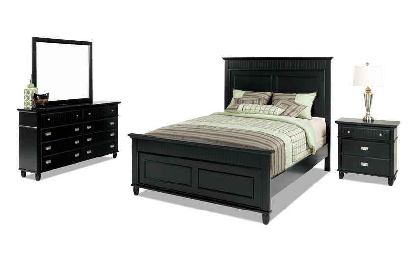 Spencer California King Black Bedroom Set