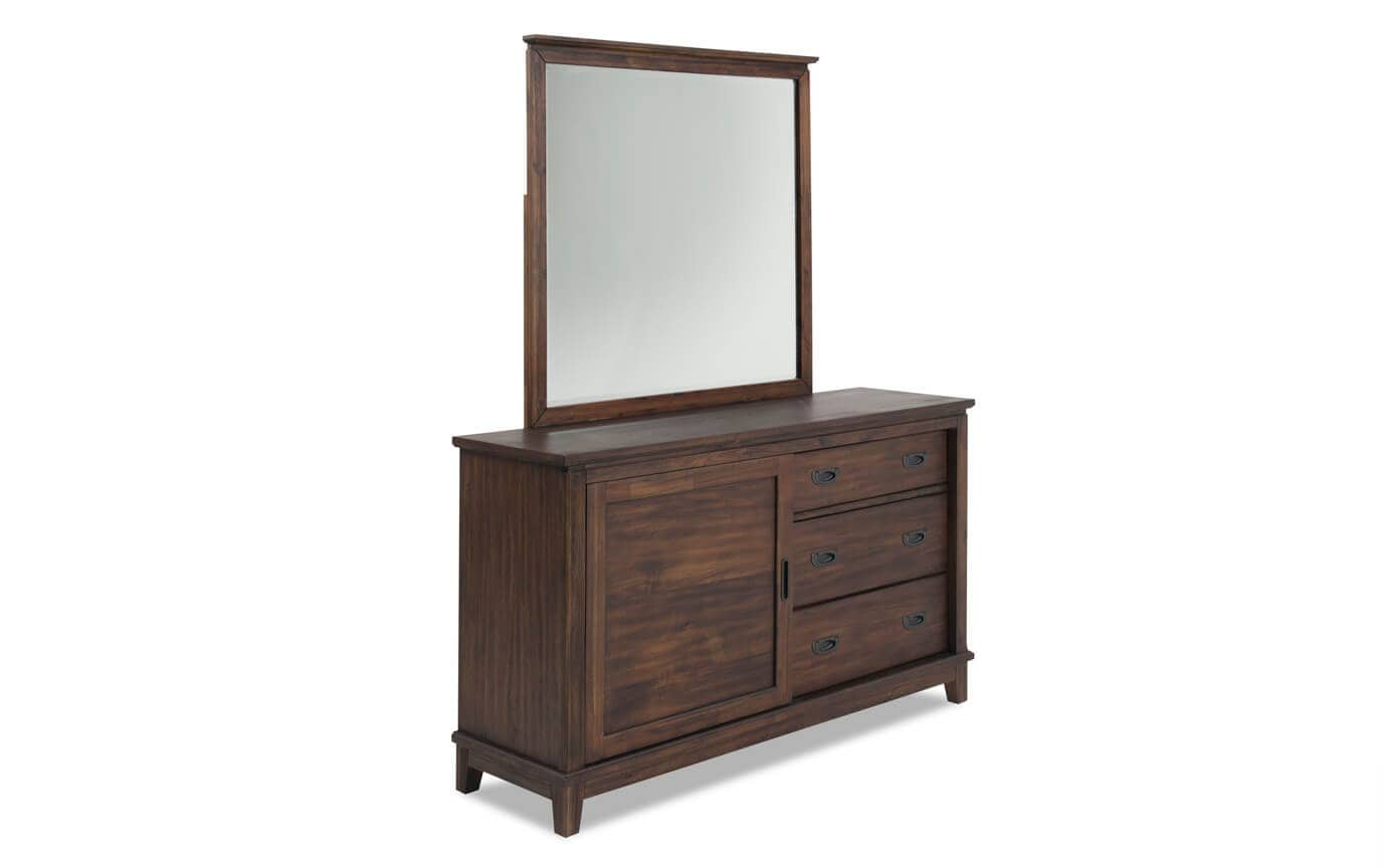 Chadwick Full Rustic Trundle Bedroom Set With Panel Bed