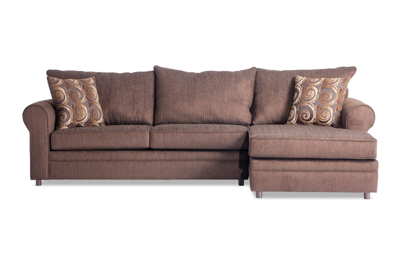 Emma Chocolate Left Arm Facing Sectional