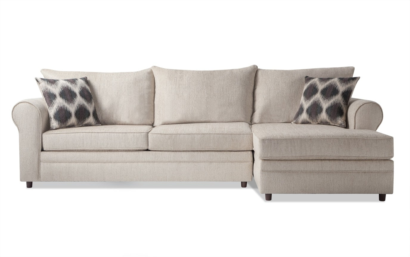 Emma Taupe Left Arm Facing Sectional