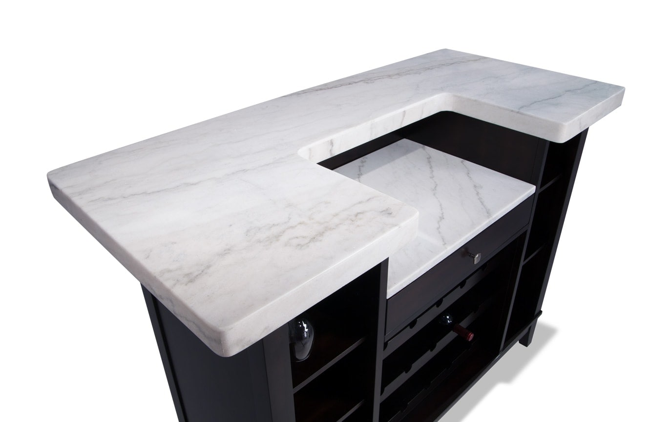 Montibello White Marble Bar