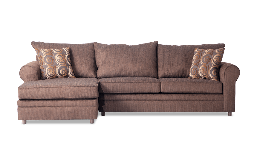 Emma Chocolate Right Arm Facing Sectional
