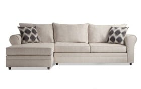Emma Taupe Right Arm Facing Sectional