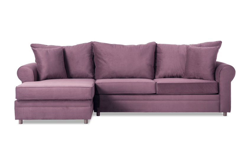 Emma Double Plum Right Arm Facing Sectional