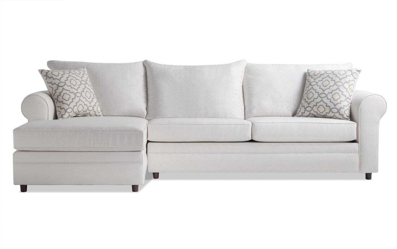 Emma Beige Stripe Right Arm Facing Sectional
