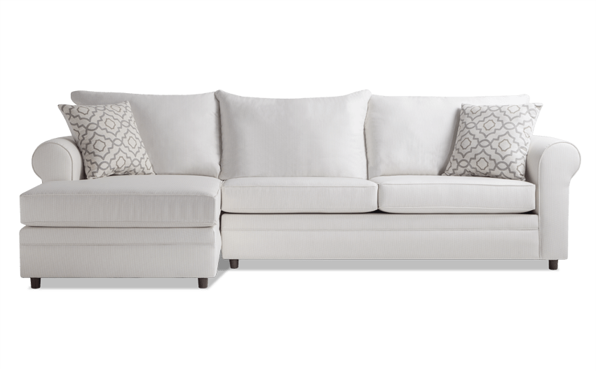 Emma Linen Stripe Right Arm Facing Sectional