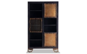 Boho Black Display Cabinet