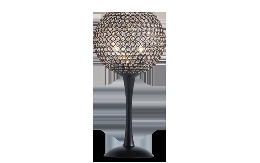 Sparkle Bronze Crystal Goblet Lamp